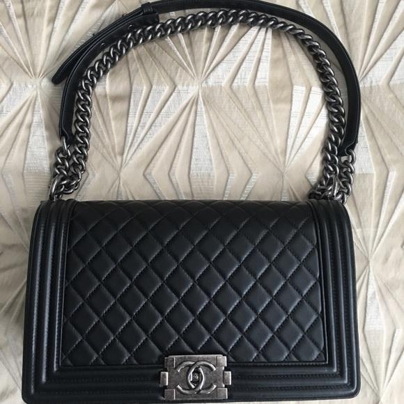 CHANEL Handbags - Authentic Black Chanel Boy Bag FULL SET
